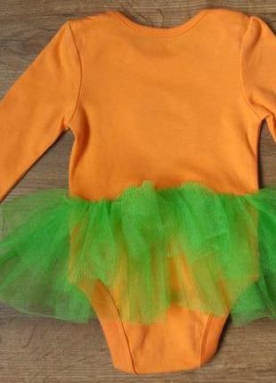 Новый очаровательный бодик платье тыковка george на 3-6 месяцев2 фото