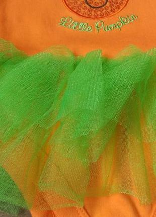Новый очаровательный бодик платье тыковка george на 3-6 месяцев5 фото