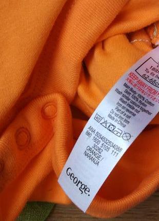Новый очаровательный бодик платье тыковка george на 3-6 месяцев6 фото