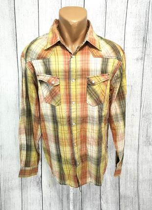 Рубашка стильная angelo litrico, клетка