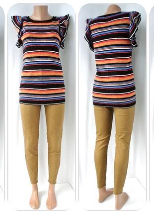 Стильная брендовая блузка next в полоску. размер uk 8/eur36 (s, наш 42-44).