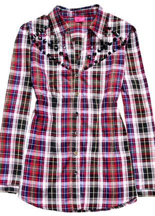 George. приталенная блуза рубашка в клетку. хл. 14.42