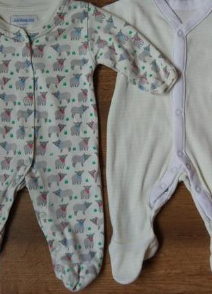 Комплект набор человечков человечек на 0-1 мес для новорожденных маловесных и недоношенных