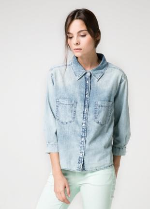 Отбеленная джинсовая рубашка mango, xs