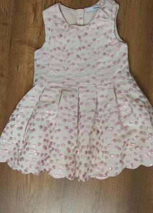 Новое сногсшибательное нарядное платье george на 1-1,5 года