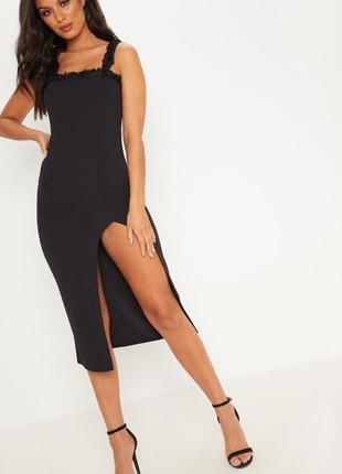 ff1f13cbbd2 Женские платья миди с вырезом 2019 - купить недорого вещи в интернет ...