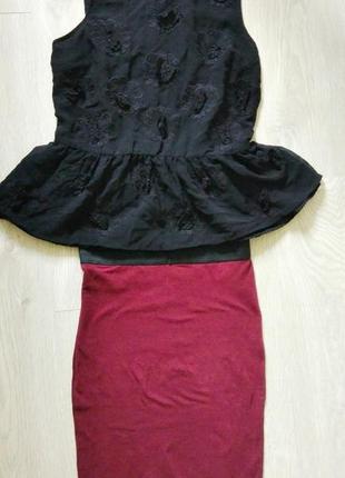 ⭕продам комплектом :блуза top shop+ юбка terranova
