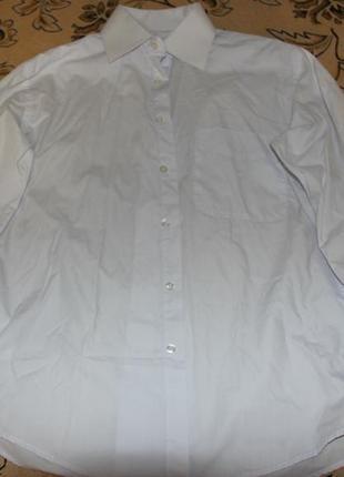 Классическая белая рубашка с запонками