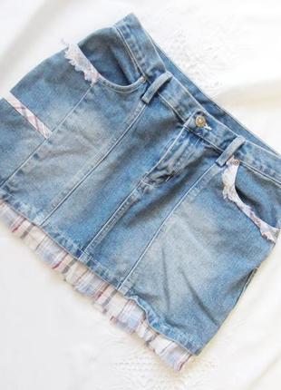 Летняя джинсовая юбка.дешево. распродажа!