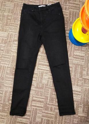 Джинси з прорізами на колінах, джинсы с порезами на коленях