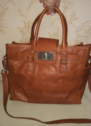 Брендовая номерная сумка оригинал кожа calvin klein