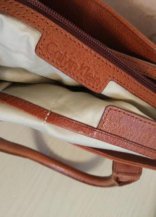 Брендовая номерная сумка оригинал кожа calvin klein2 фото