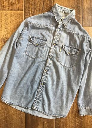 Стильная джинсовая рубашка switcher s m