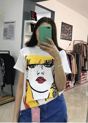 Стильна футболка вільного крою, оверсайз, crep, туреччина