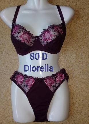 💜красивый комплект diorella 80 d, диорелла 80д, модный цвет марсала