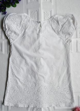 Легкая нарядная батистовая блуза футболка с перфорацией melio4 фото