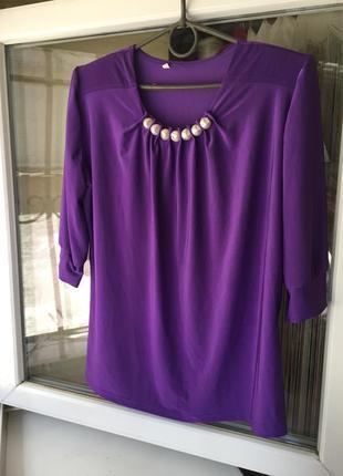 Красива блуза з перлинками 52розмір,xxl1 фото