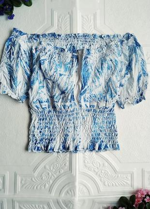 Блуза жатка со спущенными плечами