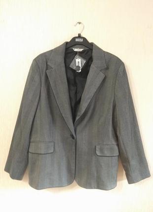 Классный новый серый пиджак жакет george большой размер 18-20 3xl-4xl
