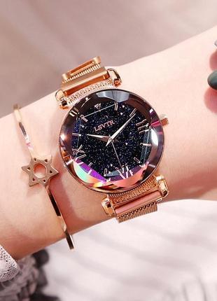 Акция! часы женские lsvtr starry sky watch на магнитном браслете