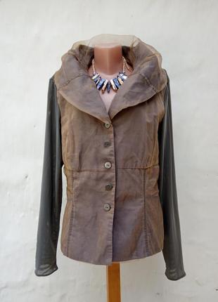 Красивый,нарядный серый,золотой жакет kapalua,пиджак,комбинированный.