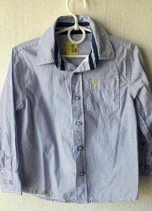 Рубашка на мальчика arturo calle 4-5 лет