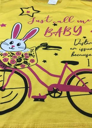 Футболка для девочки заяц beebaby (бибеби)2 фото