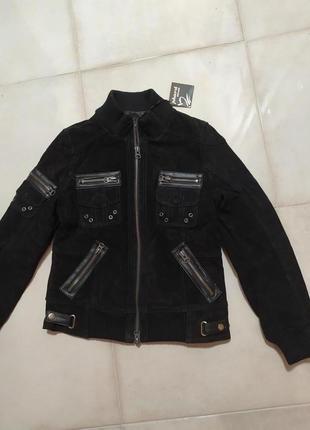 Скидка! супер замшевая куртка phard черная
