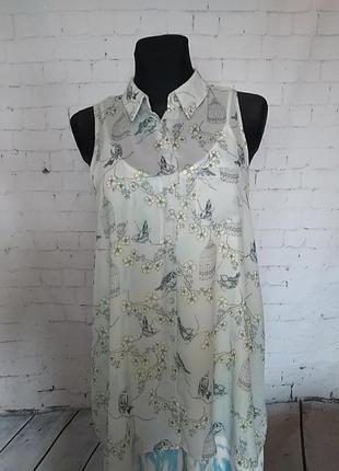 Шифонова напівпрозора блуза16uk