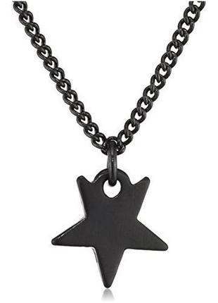 Цепочка с кулоном звезда гематит pilgrim дания элитная ювелирная бижутерия