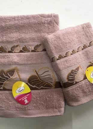 Комплект полотенец хлопок.