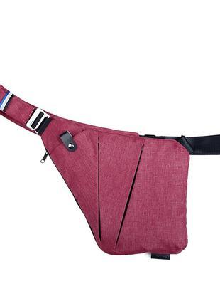 Мужская сумка cross body / сумка мессенджер fino красная