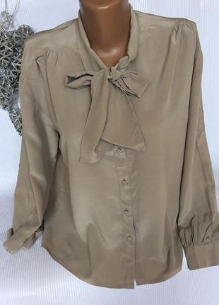 Шикарная воздушная рубашка шелк100%