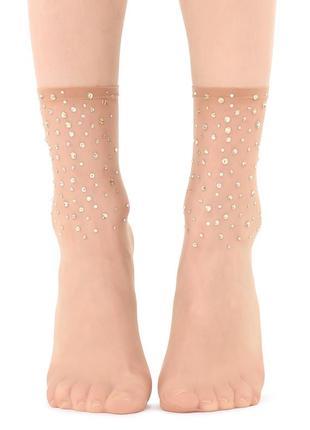 Нюдовые носки в стразы calzedonia