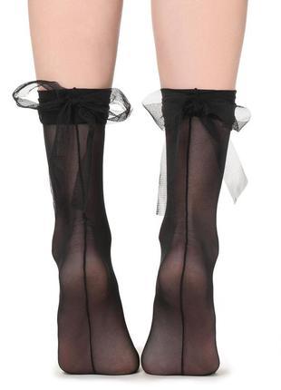 Итальянские носки с бантиками из тюля calzedonia