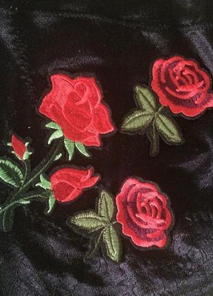 Красивые розы патч нашивка