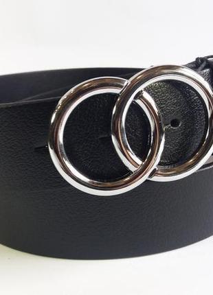 Кожаный ремень кольца тренд 2019