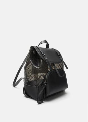 Виниловый рюкзак zara