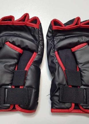 Перчатки мма с защитой, размер m-l. новые!!!