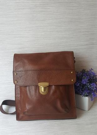 Кожаная мужская сумка m&s