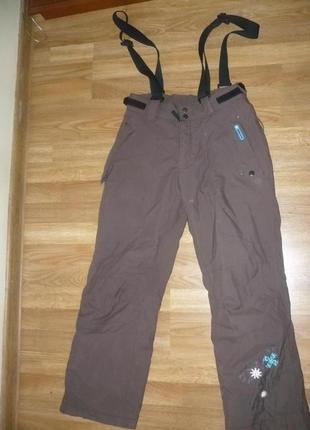 Штаны лыжные на девочку 152р. obscure мембрана 3000 коричневые