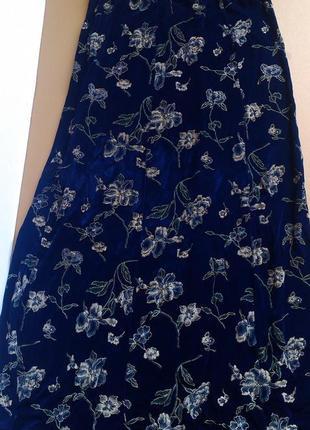 Длинная юбка в цветы