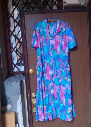 Платье халат большой размер3 фото