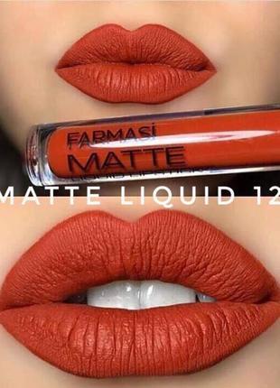 Матовые помады matte liquid lipstick