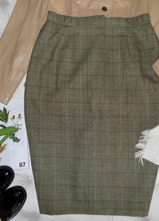 100 % шерсть, классическая юбка
