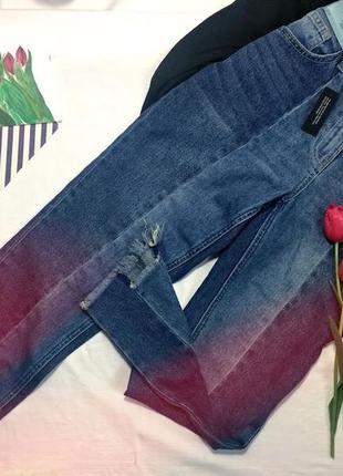 Нові джинси з необробленим низом