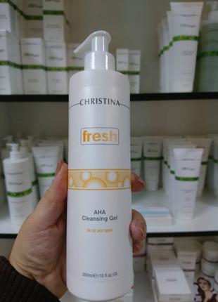 Очищающий гель с фруктовыми кислотами для всех типов кожи  christina