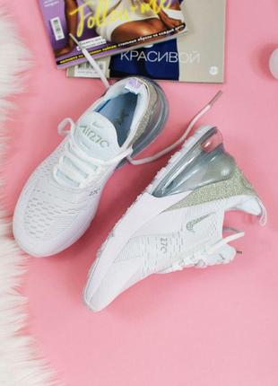 Шикарные женские кроссовки nike air max 270 white3 фото