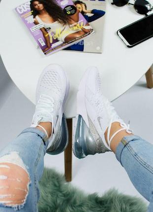 Шикарные женские кроссовки nike air max 270 white4 фото