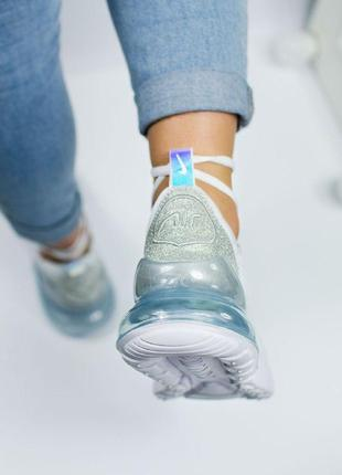 Шикарные женские кроссовки nike air max 270 white5 фото